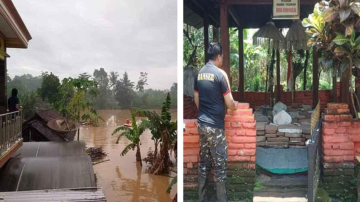 Dua Makam Kuno Tak Tersentuh Air Saat Banjir Besar Terjang Lumajang