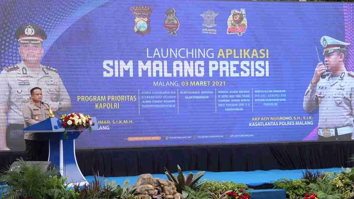 Dukung Program Unggulan Kapolri, Polres Malang Launching Aplikasi Inovasi SIM Malang Presisi