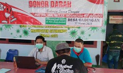 GP Anshor PAC Jangkar bersama PMI dan Pemdes Gadingan Gelar Donor Darah