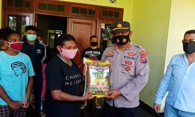 Polres Jombang Bantu Mahasiswa Papua di Masa Pandemi Covid-19
