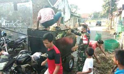Songsong Lomba Desa Berseri, Koramil Pajarakan Probolinggo Laksanakan Karya Bhakti