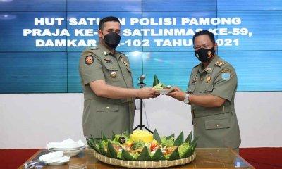 Wali Kota Probolinggo Pimpin Upacara HUT Sat Pol PP, Satlinmas dan Damkar