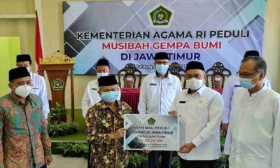 Kemenag Salurkan Bantuan Rp 325 Juta untuk Masyarakat Terdampak Gempa di Malang