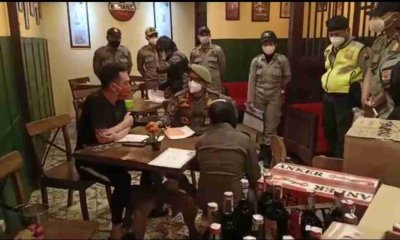Puri Cafe Dirazia Petugas Gabungan, Sebanyak 110 Botol Minuman Beralkohol Disita