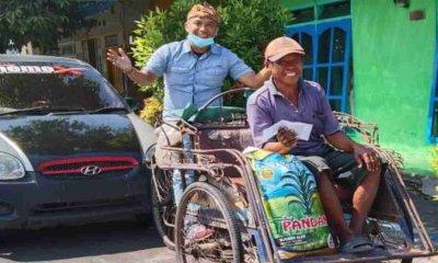 Alhamdulillah… Abang Becak yang Keluhkan Pendapatan Minim, Akhirnya Dapat Kejutan untuk Lebaran